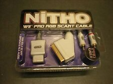 NITHO WII PRO RGB SCART CABLE PRO CABLE CAVO NUOVO PER NINTENDO WII VERSIONE PAL