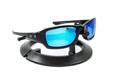 OAKLEY FIVES SQUARED POLISHED BLACK FRAME / REVANT ICE BLUE POLARIZED CUSTOM