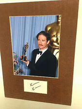 Kevin Kline Oscar Award Signed Autographed Cut with 8 x 10 Matted Photo