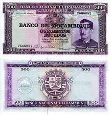 MOZAMBIQUE 500 Escudos Banknote World Paper Money UNC Currency Pick p-118 Bill