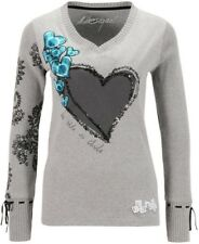 Desigual  Jumper Top, Grey & Multi, UK Size S