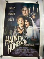 Vintage 80s Original Movie Ad Gene Wilder in Haunted Honeymoon Poster One Sheet