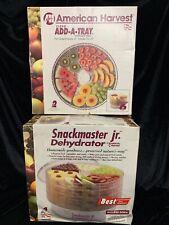 American Harvest Snackmaster Jr.Model FD-20 Dehydrator 4 Trays + BONUS 2 Trays