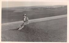 """Lady  on  Hillside,  1930s,  Jerome Studio,   """"All Alone on the Hills""""    RK504"""