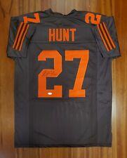 Kareem Hunt Autographed Signed Jersey Cleveland Browns JSA