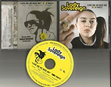 LADY SOVEREIGN Love Me or Hate CLEAN & INSTRMENTAL & A CAPPELLA PROMO CD Single
