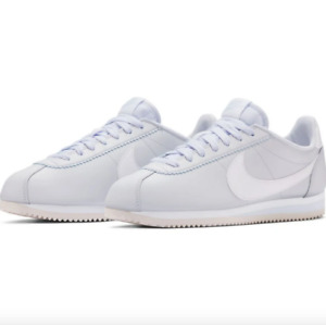 Nike Classic Cortez Leather Grey White Shoes 807471 023 Womens - SIZE 6.5 - NEW!
