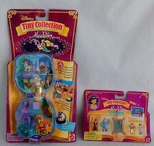 POLLY POCKET Tiny Collection Disney JASMINE ALADDIN PLAYSET Figures toy Compact