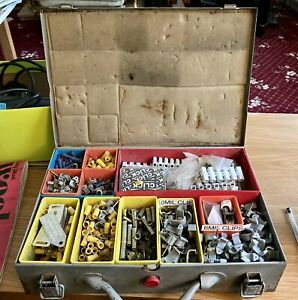 Metal Tool Box With Many Various Clips Etc