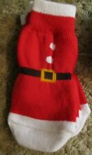 Dog Socks -NEW Holiday Red- Non Slip Grip, XS/S, or XL/XXL