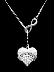 Godmother Necklace Mother's Day Gift Will You Be My Godmother Lariat Jewelry