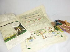 Vtg Embroidery Sampler Kit Paragon The Chase S7142 Williamsburg Nearly Finished