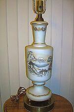 "Vintage 1950s Regency Table Lamp Bavarian Bristol Vase 22"" Tall EXC Cond 4759"