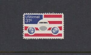 USA 1976 (Airmail 31c) Airmail Jetliner-Stars & Stripes Single - MNG