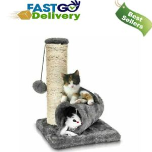 Cat Kitten Tree Scratching Post Climbing Activity Centre Sisal Bed Toy Scratcher