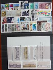 Germany Complete Year 1986 Stamp Set + Souvenir Sheet Singles MNH German Stamps