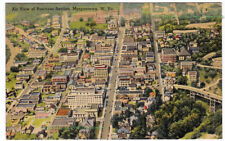 AIR VIEW OF BUSINESS SECTION Morgantown WEST VIRGINIA - 1942 POSTCARD