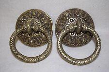 Vintage Style Pair of Brass Door Knockers
