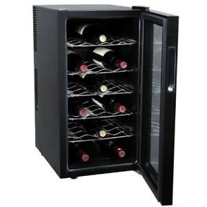 Cantina Refrigerante Vino Cantinetta Frigo Elettrica 18 Bottiglie 52Lt 70W Nero