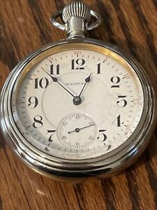 Waltham Pocket Watch , 18 S, 17 J, A.T.co. Highly Damask, P.W./P.S. Running.