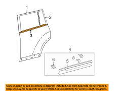 TOYOTA OEM 11-13 Highlander Rear-Window Sweep Belt Felt Molding Left 757400E050