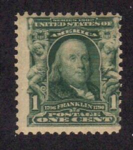 Scott #  300  beautiful Benjamin Franklin never hinged