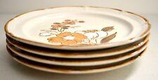"Lot 4 Vintage BAROQUE ""Autumn Fair"" Hearthside Stoneware 7.5 in. Plates - Japan"