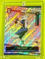 Unparalleled Tom Brady Patriots Legend Spectacular Sparkle Rainbow Color Burst