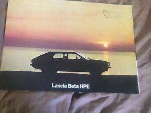 1977 Lancia Beta HPE Coupe large Prestige Color Brochure Prospekt