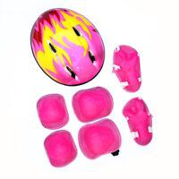 Child Kids 7Pcs Skating Protective Gear Helmet + Knee Elbow Wrist Pads Set