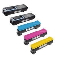 5 Pack TK-582K TK582 Black & Color Toner Cartridge for Kyocera Mita FS-C5150DN