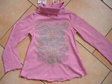 (218) Nolita Pocket Girls Rollkragen Shirt in A-Form + Aufnäher Schleife gr.128