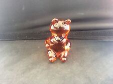 Wedgwood Dark Amber Glass Teddy Bear Paperweight Ornament Figure Figurine c1970s