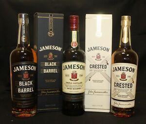 Jameson Irish Whiskey Set 40% 0,7 L - 1 x Black Barrel 1 x Crested 1 x Standard