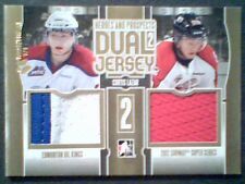 CURTIS LAZAR  13/14 AUTHENTIC DUAL 3-COLOR PIECE OF GAME-USED JERSEYS /10