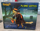 2009 Spirit Halloween FLYING WITCH Animated Prop Decoration NOS/UNUSED RARE!