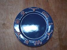 "Frankoma USA RANCH NAVY BLUE Set of 4 Salad Plates 7 3/4"" C"