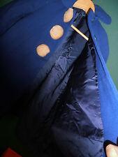 1940s swing girls coat 50S SWING COAT Cobalt Royal blue wool faux fur amazing!!!