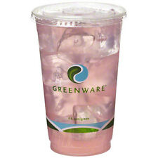 Fabri-Kal Gc24, 24-Ounce Greenware Clear Pla Cold Cup, 600/Cs, Bpi (Lids Are Sol