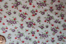 ONE VINTAGE FEEDSACK  TINY PRETTY PURPLE  RED FLOWERS  37x44  PRISTINE!