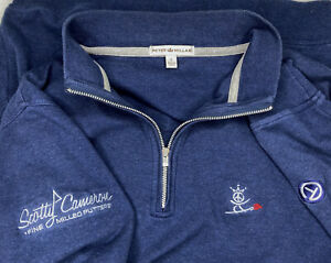 Scotty Cameron Peter Millar 1/4 Zip Navy Pullover Circle T Peace Surfer Mens S