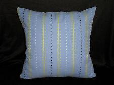 Blue Black Green Indian Cotton Woven Simple Cushion Cover 45CM Au Handmade