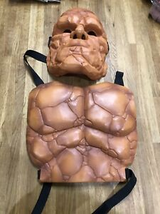 Official Marvel Fantastic Four 4 The Thing Face Mask And Chest Piece