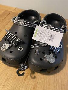 Little Big X Crocs Limited Edition Black Roomy Fit UK M7 W8  US M8 W10 EUR 41-42