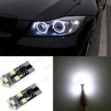 4Pcs Error Free T10 8-SMD Angel Eyes LED Ring Marker Bulbs For BMW E60 Pre-LCI
