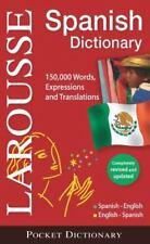 Larousse Pocket Dictionary Spanish-English/English-Spanish-ExLibrary
