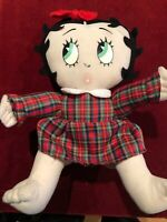 "vintage betty boop Hand Crafted Plush Doll 14"" High With Dress & Bow-tie. Rare."