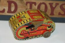 NICE VINTAGE MARX 1930's  TIN WIND UP MECHANICAL #3 TURNOVER TANK