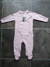 Bonds Baby Newbies Coveralls Size 000-0000 3 Different Colours 000 Ballet Pink Stripe