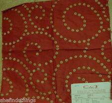 Cowtan Tout Churchill Red Spiral Embroidered Dots Silk Designer Fabric Sample
